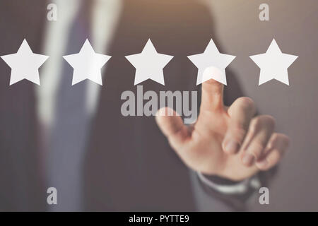 customer review and feedback, reputation management - Stock Photo
