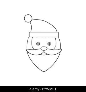 Christmas icon. Santa Claus icon. Vector illustrations. Flat design. - Stock Photo
