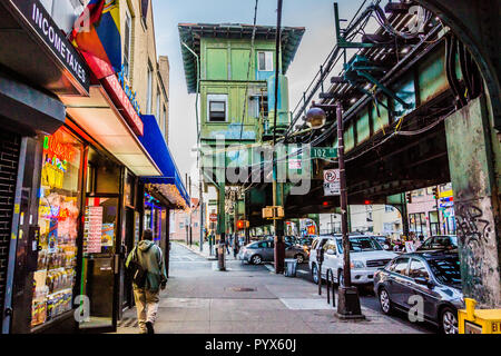 103rd Street – Corona Plaza Subway Station Corona Queens   New York, New York, USA - Stock Photo
