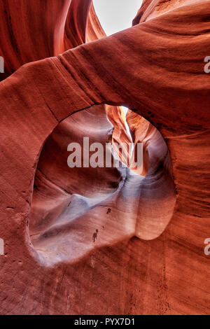 peekaboo slot canyon, Grand Staircase-Escalante National Monument, Utah, USA, North America Stock Photo