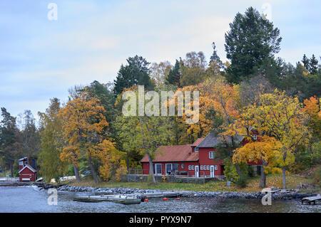 Granholmen island near Vaxholm, Sweden - Stock Photo