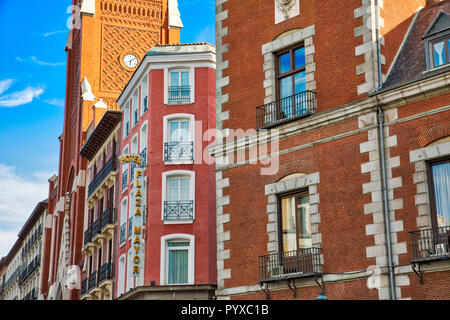 Madrid, Spain-March 17, 2017: Santa Cruz Palace near Plaza Mayor in historic city center - Stock Photo