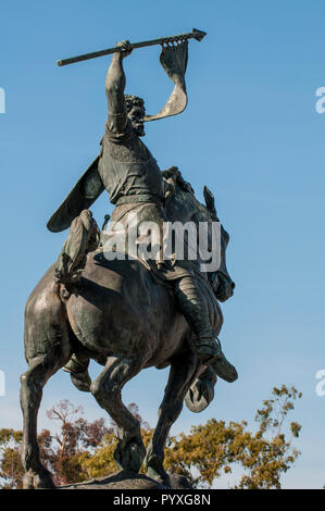 El Cid sculpture by artist Anna Hyatt Huntington, Balboa Park, San Diego, California. - Stock Photo