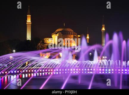 Hippodrome of Constantinople (Sultanahmet square) in Istanbul. Turkey - Stock Photo