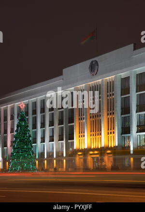 Minsk city executive committee at Independence avenue. Belarus - Stock Photo