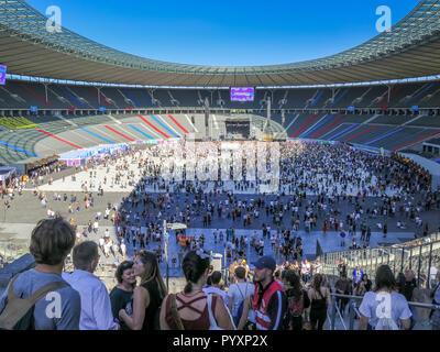 Lollapalooza festival, Olympic stadium, Westend, Berlin, Germany, Lollapalooza-Festival, Olympiastadion, Deutschland - Stock Photo