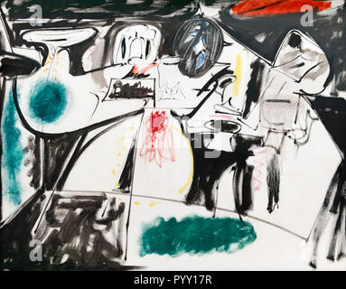 Last Painting (The Black Monk) by Arshile Gorky (Vostanik Manoug Adoian, 1904-1948), oil on canvas, 1948 - Stock Photo