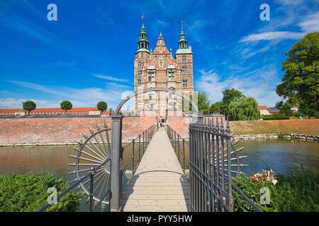 Copenhagen famous Rosenborg castle - Stock Photo