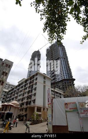 buildings at Lower Parel, Mumbai, Maharashtra, India, Asia - Stock Photo