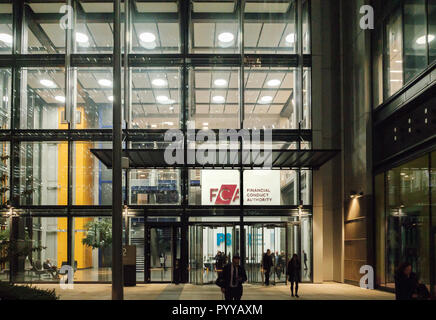 The new UK Financial Conduct Authority headquarters office building at 12 Endeavour Square, International Quarter, Stratford, East London, 2018 - Stock Photo