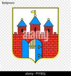 Emblem of Bydgoszcz. City of Poland. Vector illustration - Stock Photo