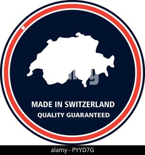 Made in Switzerland quality stamp. Vector illustration - Stock Photo