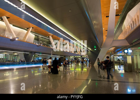 One of the concourses at Hamad International Airport in Doha, Qatar
