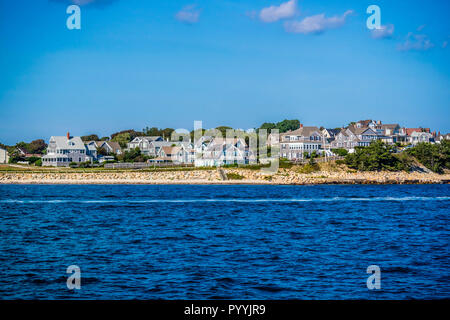 The overlooking view of the island in Massachusetts at Cape Cod Martha's Vineyard - Stock Photo