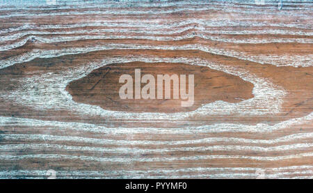 abstract textured background of  worn white painted oak  timber - Stock Photo