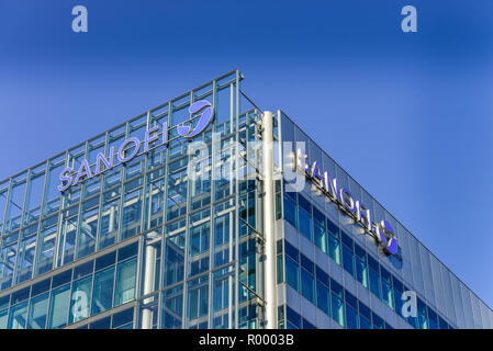Sanofi, Sony centre, Potsdam place, zoo, middle, Berlin, Germany, Sony-Center, Potsdamer Platz, Tiergarten, Mitte, Deutschland - Stock Photo