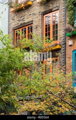 Neil's Yard: coloured shutters - Stock Photo