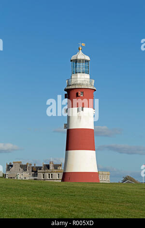 Smeaton's Tower on Plymouth Hoe, Plymouth, Devon, England, Great Britain - Stock Photo