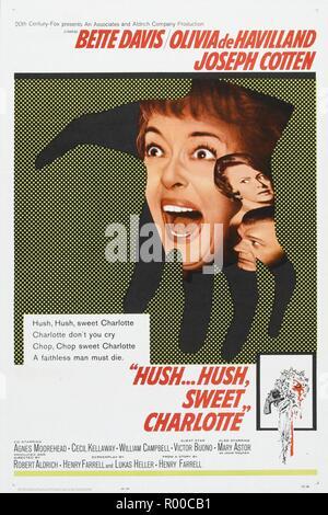 Hush...Hush, Sweet Charlotte Year : 1964 USA Director : Robert Aldrich Bette Davis Poster (USA) - Stock Photo
