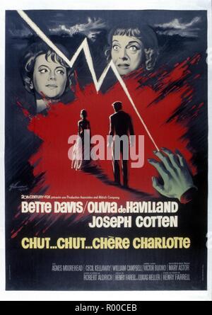 Hush...Hush, Sweet Charlotte Year : 1964 USA Director : Robert Aldrich Poster (Fr) - Stock Photo