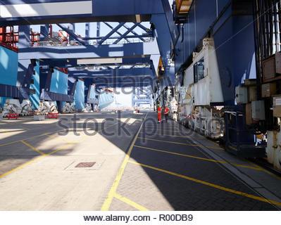 Dock at Port of Felixstowe, England - Stock Photo
