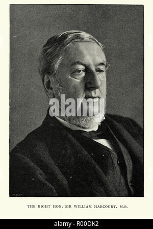 Sir William Harcourt, a British lawyer, journalist and Liberal statesman. He served as Member of Parliament and held the offices of Home Secretary and Chancellor of the Exchequer under William Ewart Gladstone before becoming Leader of the Opposition. - Stock Photo