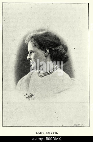 Vintage photograph of Lady Ethel Smyth, an English composer and a member of the women's suffrage movement. 1896 - Stock Photo
