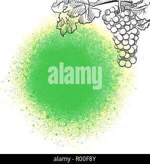 Wine menu background. Vector food illustration. - Stock Photo