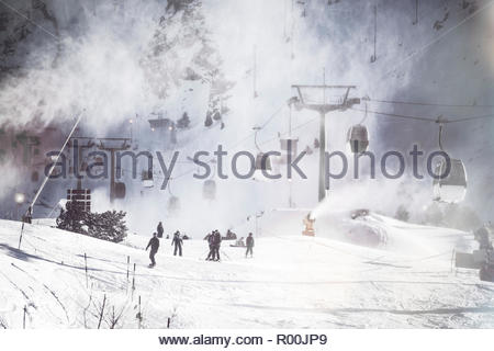 Ski field in Spain - Stock Photo