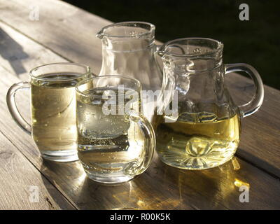 Stillife, Weingläser beim Heurigen - Stock Photo
