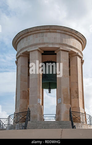 Siege Bell Memorial, Valletta, Malta, commemorating the civilian & military deaths during WW2 - Stock Photo
