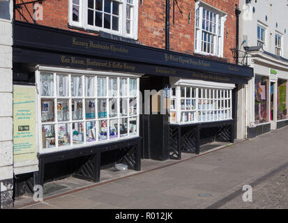 The Oldest Chemist Shop in England - located in the market place at Knaresborough, North Yorkshire - Stock Photo
