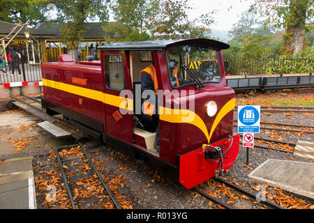 The John Thynn diesel engine loco locomotive which pulls the train carriages of the Longleat House Safari Park train at Longleat, Wiltshire. England UK - Stock Photo