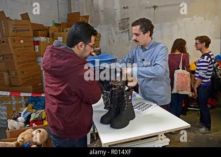 Germany, North Rhine-Westphalia - Refugees in NRW - Stock Photo