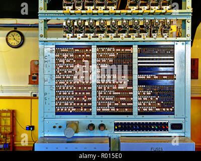 Bletchley Park part of  Colossus decoding machine - Stock Photo