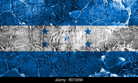 Old Honduras grunge background flag - Stock Photo