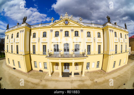 Branicki Palace in Bialystok, Poland. Front elevated view after restoration. - Stock Photo