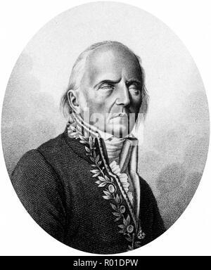 Jean-Baptiste Pierre Antoine de Monet, Chevalier de Lamarck (1744 - 1829), French naturalist. - Stock Photo