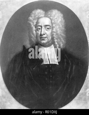 Cotton Mather, Cotton Mather (1663 – 1728) socially and politically influential Puritan minister and author - Stock Photo