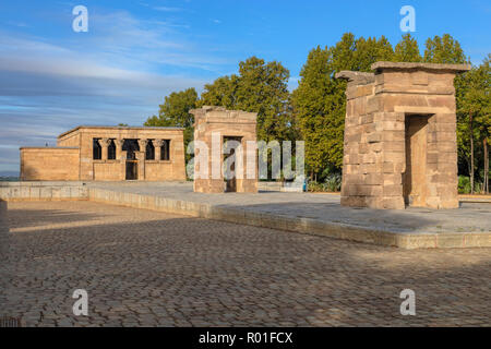 Madrid, Temple of Debod, Spain, Europe - Stock Photo