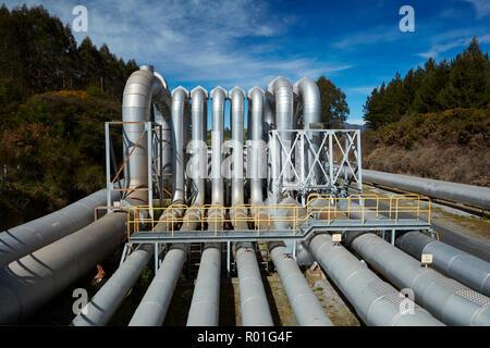 Wairakei Geothermal Power Station, near Taupo, North Island, New Zealand