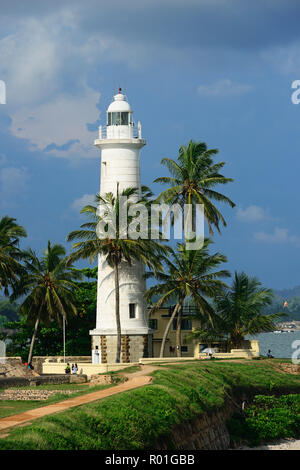 Lighthouse in the old Dutch fort, Galle, Sri Lanka - Stock Photo