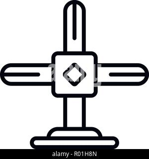 Scaffolding cross icon, outline style - Stock Photo