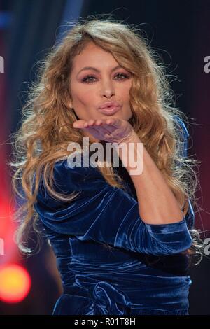 Paulina Rubio during presentation of tv program La Voz in Madrid on Wednesday , 31 october 2018 - Stock Photo