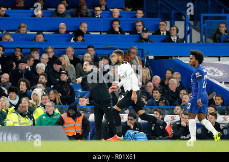 Derby County manager, Frank Lampard during the EFL Carabao Cup Round of 16 match between Chelsea and Derby County at Stamford Bridge, London, England on 31 October 2018. Photo by Carlton Myrie.  Editorial use only, license required for commercial use. No use in betting, games or a single club/league/player publications. - Stock Photo