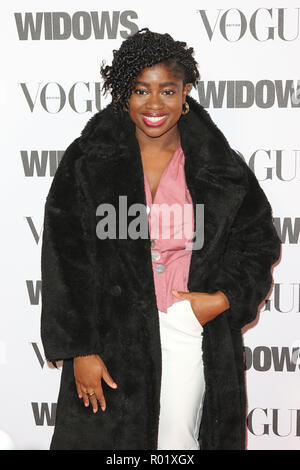 London, UK. 31st Oct, 2018. Clara Amfo, Widows - Special Screening in association with Vogue, Tate Modern, Bankside, London, UK. 31st Oct, 2018. Photo by Richard Goldschmidt Credit: Rich Gold/Alamy Live News - Stock Photo