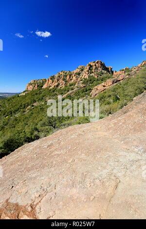 Rocher de Roquebrune sur Argens, 83, Var, Cote d'azur, PACA, - Stock Photo