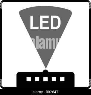 Symbol of light-emitting diode (LED) vector - Stock Photo