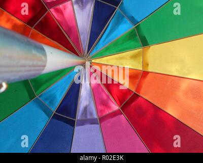 Umbrella at Dolly's ice cream Pisgah Forest, NC - Stock Photo