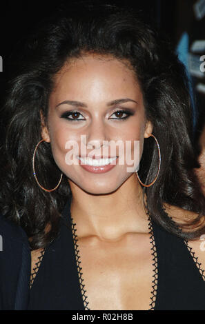 Alicia Keys arriving at the Smokin' Aces at the Chinese Theatre In Los Angeles. January 18, 2007.  eye contact smile portrait headshot KeysAlicia027 Red Carpet Event, Vertical, USA, Film Industry, Celebrities,  Photography, Bestof, Arts Culture and Entertainment, Topix Celebrities fashion /  Vertical, Best of, Event in Hollywood Life - California,  Red Carpet and backstage, USA, Film Industry, Celebrities,  movie celebrities, TV celebrities, Music celebrities, Photography, Bestof, Arts Culture and Entertainment,  Topix, headshot, vertical, one person,, from the year , 2007, inquiry tsuni@Gamma - Stock Photo